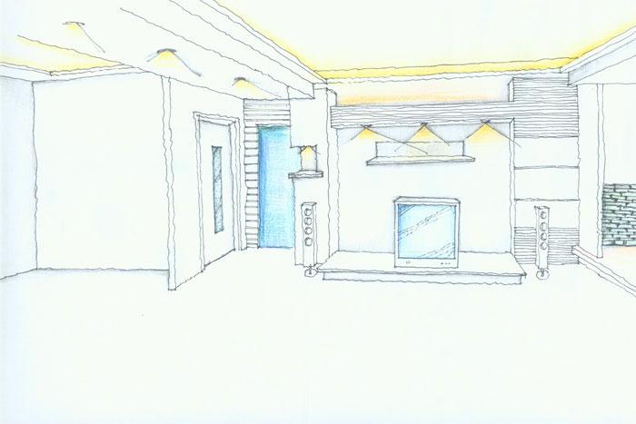 客厅(一点透视)——