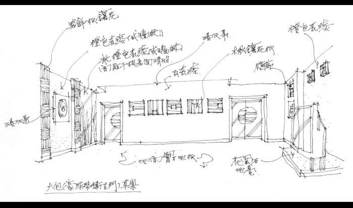 ktv手绘设计图