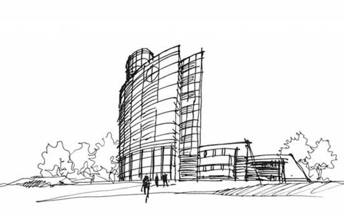 建筑钢笔画速写   _家具   徽派   建筑钢笔速写   设计图