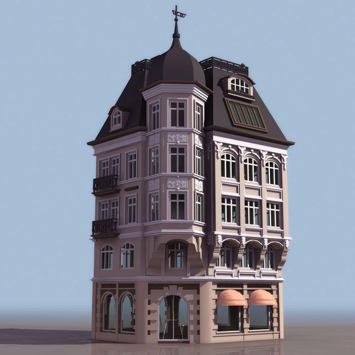外观环境——楼体效果图——仰视  此类效果图以仰视的角高清图片