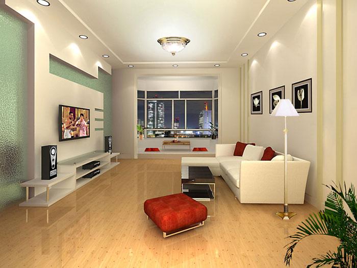 室内效果图——客厅  暖调效果图,着重表现客厅影视墙的造