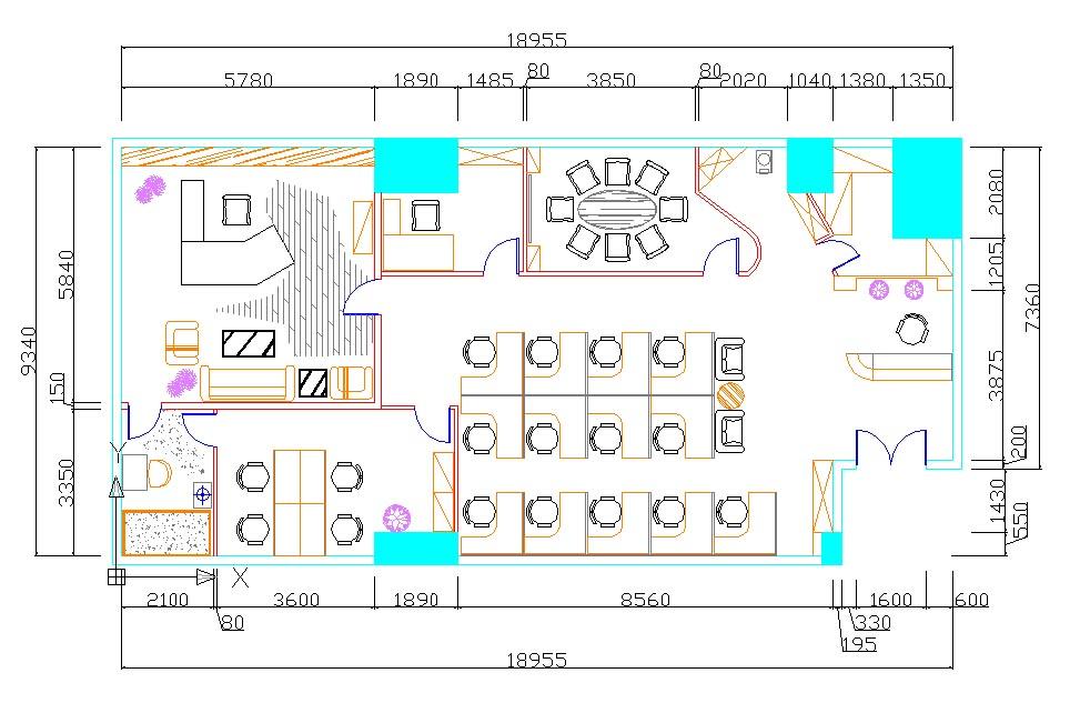 平面家具布局图制作